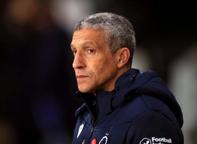 Nottingham Forest manager Chris Hughton.