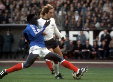 Jean-Pierre Adams [left] made 22 international appearances in the 1970s.