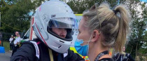 Nicci Daly pictured with Kelsey Kirby of the Formula Female team at the Karting World Cup.