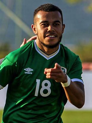 Ireland's Tyreik Wright pictured after scoring against Bosnia & Herzegovina in a recent U21 European Championship qualifier.