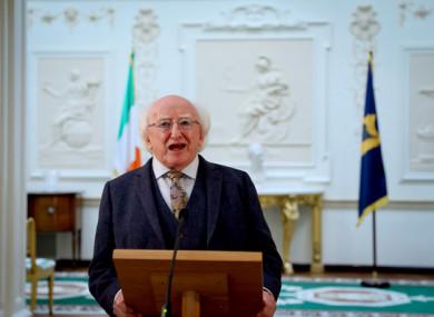 President Michael D Higgins.