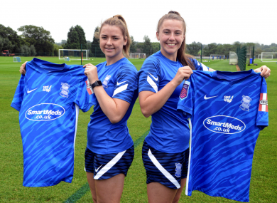 Emily Whelan and Eleanor Ryan-Doyle were unveiled as Birmingham City players earlier this afternoon.