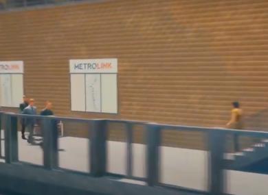 Artist's interpretation of a future MetroLink station.