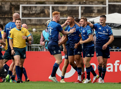 Byrne crossed for two tries against Zebre.