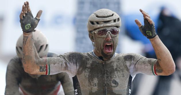 Italy's Sonny Colbrelli edges epic Paris-Roubaix mudfest