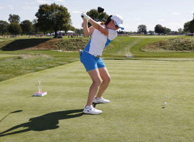 Leona Maguire in action at the Solheim Cup recently.