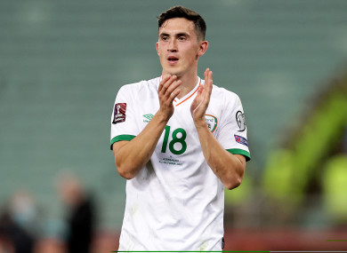 Jamie McGrath, after the Irish victory in Baku last week.