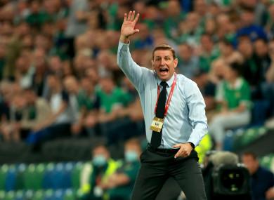 Northern Ireland coach Ian Baraclough.
